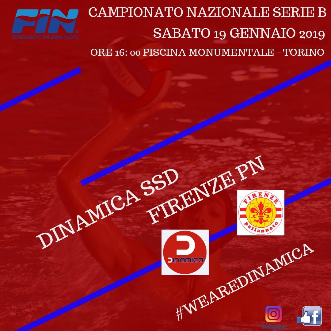 Alle 16.00 Dinamica vs Firenze Pallanuoto