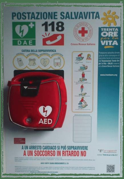 Defibrillatore Piscina di Susa