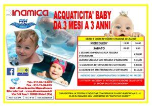 Volantino Acquaticita da 3 mesi a 3 anni Piscina di Chieri
