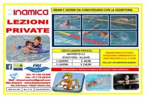 Volantino Lezioni Private di Nuoto Piscina di Chieri