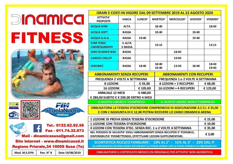 Volantino Fitness 2019-2020