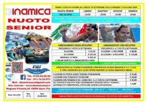 Volantino Scuola Nuoto Senior 2019-2020