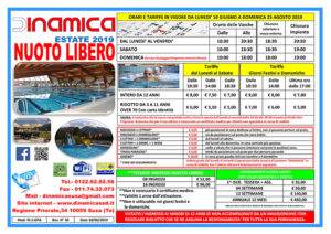 Prezzi nuoto libero estate 2019