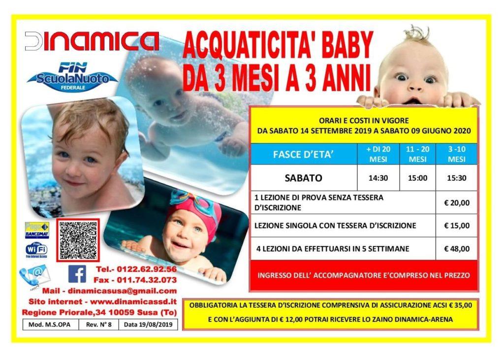 Volantino Acquaticità Baby 2019-2020