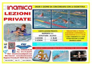 Volantino Lezioni Private di Nuoto 2019-2020