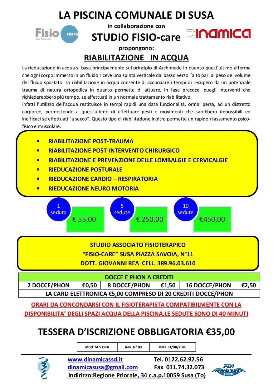 Volantino Trattamenti Fisioterapici 2019-2020